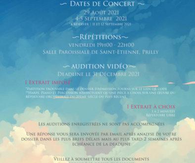 news - recrutement orchestre octobre 2020